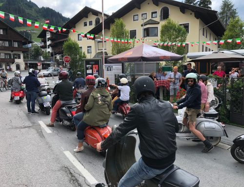 Vespa Italia Party 2019 am 10.8. in Kitzbühel